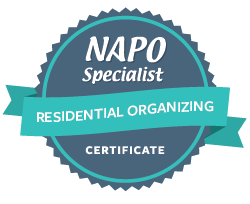 NAPO National Association of Professional Organizers residential organizing certificate