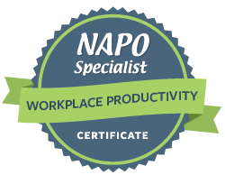 NAPO National Association of Professional Organizers workplace productivity organizing certificate
